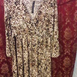 NWT Leopard print maxi dress